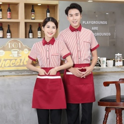stripes Chinese food restaurant service waiter staff uniform