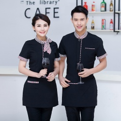 Chinese food restaurant waiter uniform tea house waiter shirt uniform