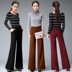 Europe fashion young lady trousers flare pant