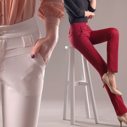 skinny design thin fabric women pant trousers