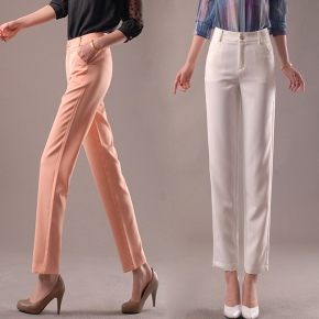 great quality Korea design women capris pant trousers 7/10 length