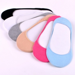 simple cheap solid low cut women socks