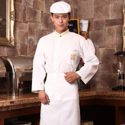 Embroidery single breasted men chef coat