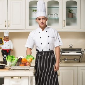 hot sale zip pattern chef uniform design wholesale