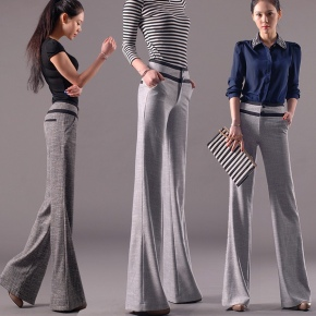 comfortable breathable linen fabric flare pant for women