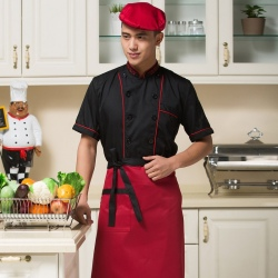 fashion reefer collar chef coat workwear