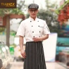 restaurant chef uniform blouse short sleeve discount