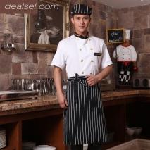 golden button summer chef uniform new