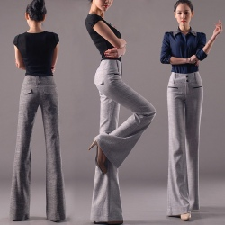 Europe Russia style wide leg women's flare pant,bell-bottom trousers