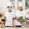 grid collar male femal chef uniform