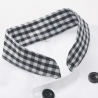 grid collar male femal chef uniform