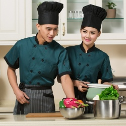 unisex design fashion blackish green chef coat