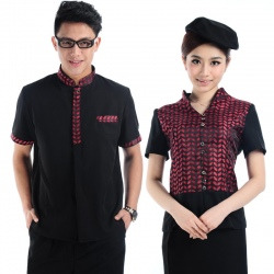professional design short sleeve waiter uniform