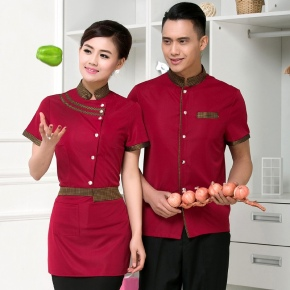 China uniform customization waiter waitress uniform
