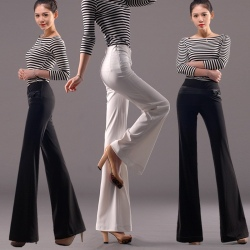 fashion bow decoration women's dress pant wide-leg pant flare pant