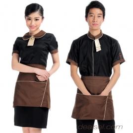 peter pan collar summer hotel staff uniform