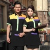 wholesale bright color hotel service team uniform shirt