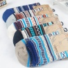 thicken stripes knitted men's cotton socks