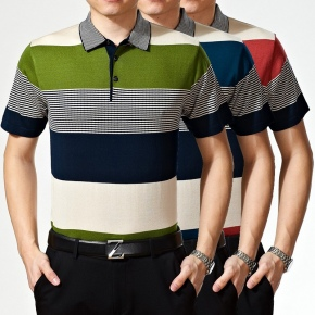 short sleeve 2015 summers men's lined tshirts