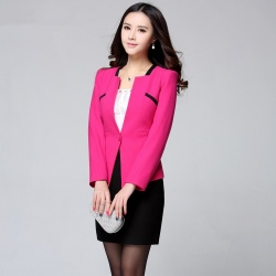 candy color one button women skirt suits for business