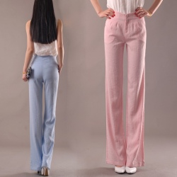 high quality summer linen women wide leg pants discount