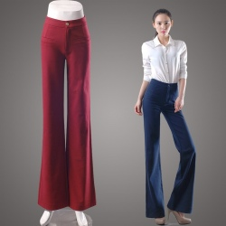 2016 new fashion office style young lady bell bottom pant,flare jeans