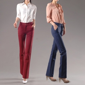 autumn women fashion sanding fabric women trousers jeans