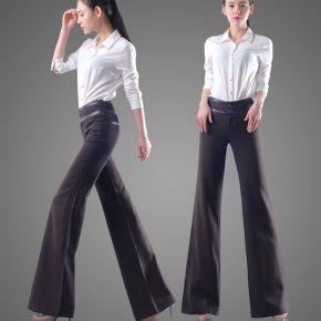 high waist woolen pant flare pant for women office wear