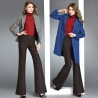 Europe office business women flare pant wool fabric toursers