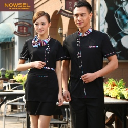 fashion scarf collar woman waitress shirt uniform