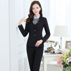 formal long sleeve administrative women suits (4 pieces)
