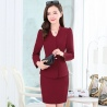 long sleeve fashion spring women business suits (skirt + coat)