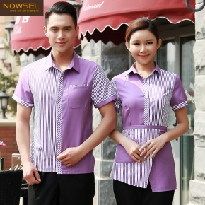 Singapore style shirt uniform for waiter waitress