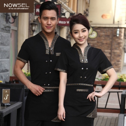 waiter waitress uniform supplier,make uniform for you