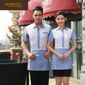 2015 fashion waiter uniform factory supplier