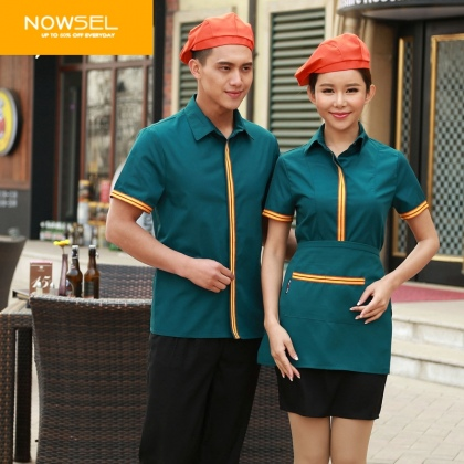 high quality cheap Inn hotel restaurant worker shirts