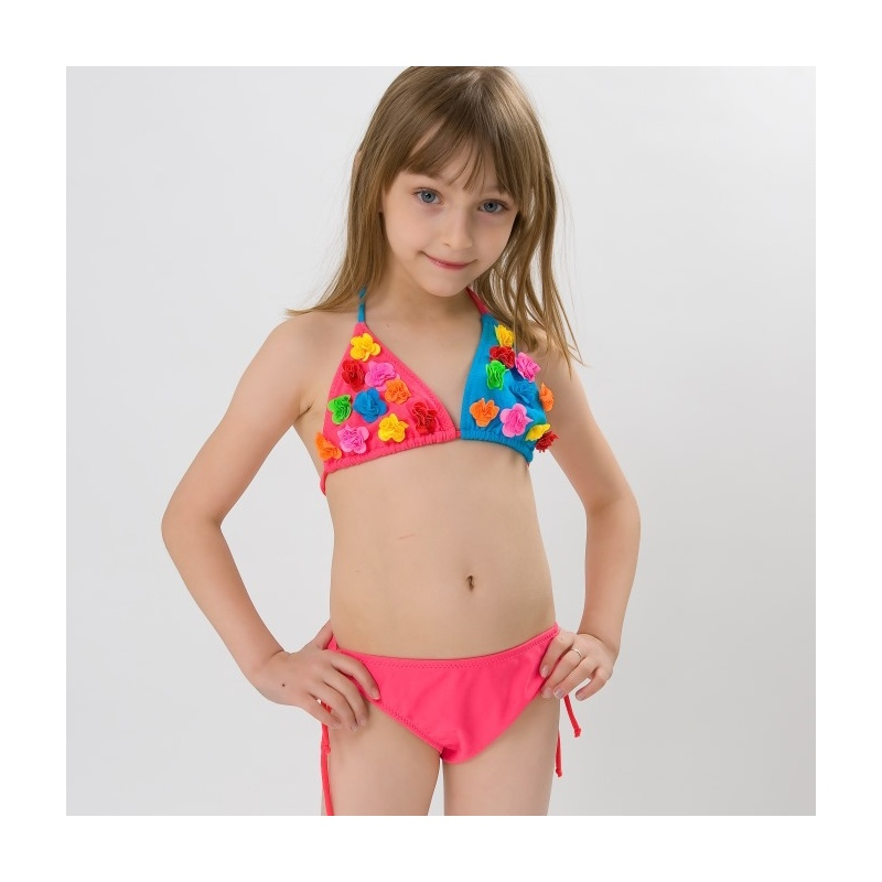 nice small floral swimwear for little girl