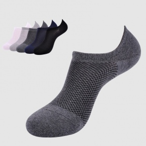 summer pure cotton mesh breathable men's slipper sock