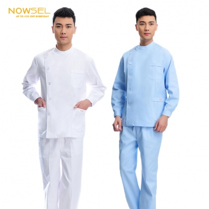 2015 right side opening male dentist long sleeve uniform jacket suit