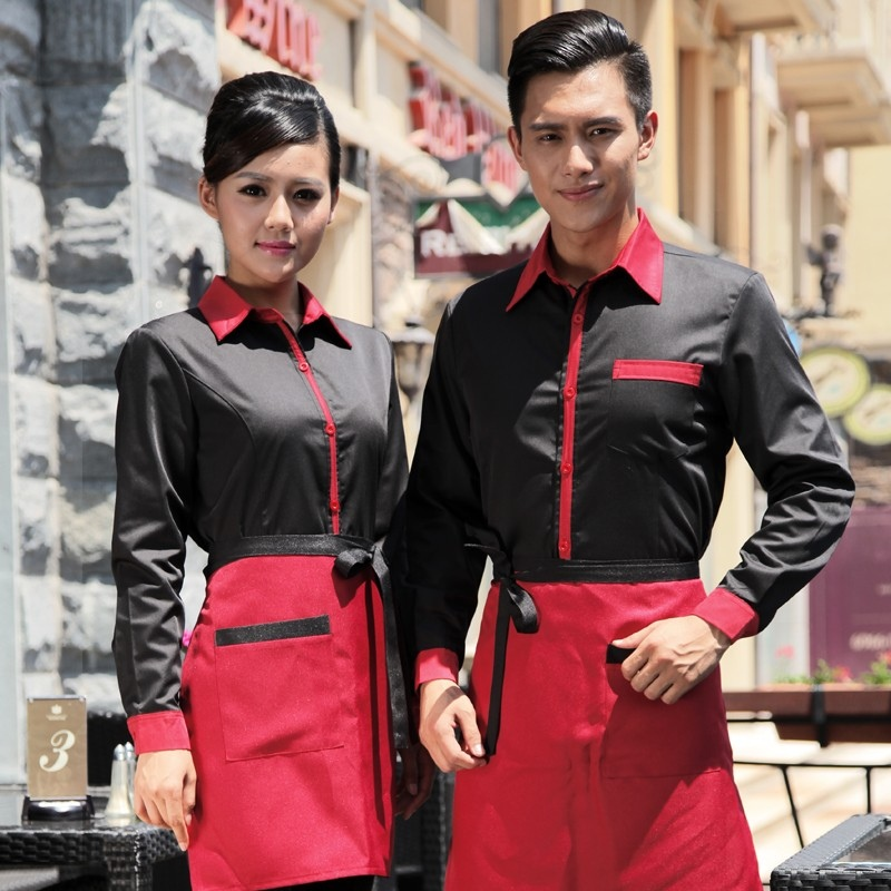 Restaurants Coffee Bar Waiter Waitress Uniform Shirt