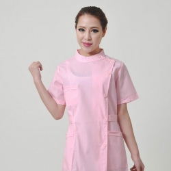 short sleeve pink nurse uniform coat