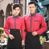 long sleeve hotel restaurant waiter waitress shirt,uniform work wear