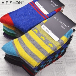 thick angora wool blends men's ankle