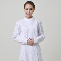 long sleeve left side opening medical nurse coat uniform