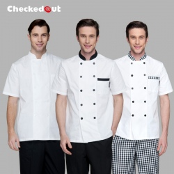 summer short sleeve unisex chef coat