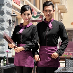 Peter Pan collar men & women shirt,Professional waiter uniform