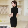 summer collarless thin formal work pant suits for women