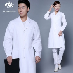 high quality long sleeve medical classic doctor nurse coat uniform
