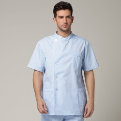 Europe side opening men nurse coat uniform Dentist jacket