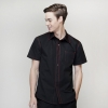 men short sleeve black